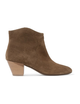 Dicker Ankle Boots Aus Veloursleder by Isabel Marant