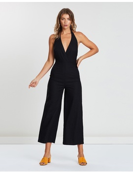 Iconic Exclusive   Evie Linen Halter Neck Jumpsuit by Atmos&Here