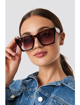 Oversize Squared Sunglasses Tortoise by Na Kd