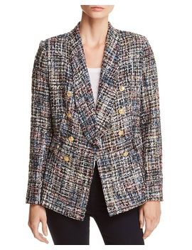 Tweed Double Breasted Blazer   100 Percents Exclusive by Aqua