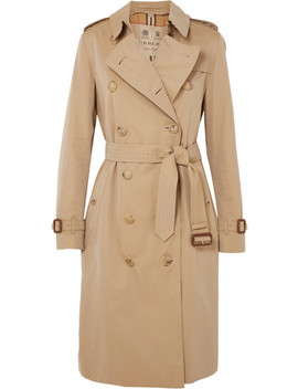 The Kensington Long Trenchcoat Aus Baumwoll Gabardine by Burberry