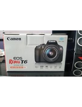 Canon Rebel T6 D Slr Camera Kit, 18 Mp, W/18 55mm Lens (New) by Canon