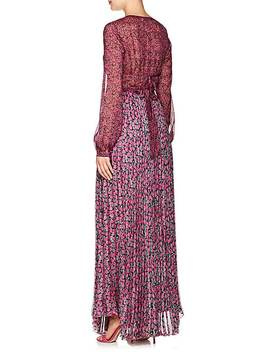 Leah Floral Silk Chiffon Maxi Dress by Raquel Diniz