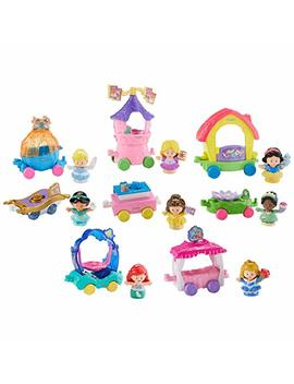 Fisher Price Little People Disney Princess Magical Parade,Includes Cinderella, Ariel, Snow White, Belle, Aurora, Rapunzel And Tiana With Their Unique Individual Carriages, Help Develop Children's Fine by .Fisher Price Little People.