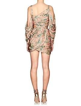 Floral Silk Draped Cold Shoulder Minidress by Zimmermann