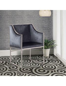 Homer Gray Velvet Chair by Pier1 Imports