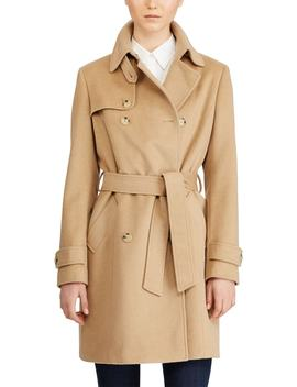 Wool Blend Trench Coat by Lauren Ralph Lauren