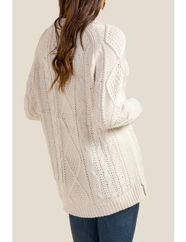 Winslet Braided Cable Knit Sweater by Francesca's