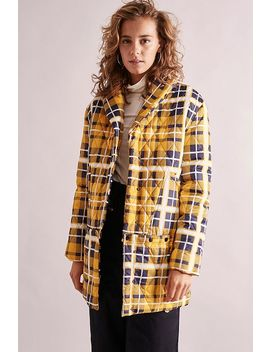 House Of Sunny Quilted Tartan Puffer Jacket by House Of Sunny