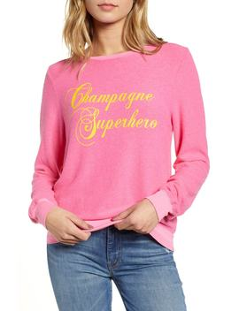 Baggy Beach Jumper   Champagne Superhero Pullover by Wildfox