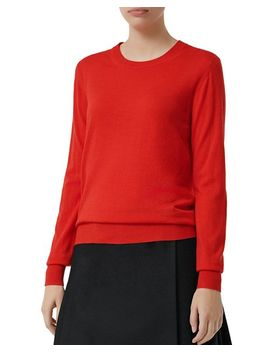 Bempton Elbow Patch Sweater by Burberry