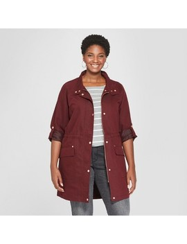 Women's Plus Size Anorak Jacket   Ava & Viv™ by Ava & Viv