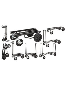 "Rock N Roller R12 Stealth (All Terrain Stealth) 8 In 1 Folding Multi Cart/Hand Truck/Dolly/Platform Cart/34"" To 52"" Telescoping Frame/500 Lbs. Load Capacity, Black by Rock N Roller"