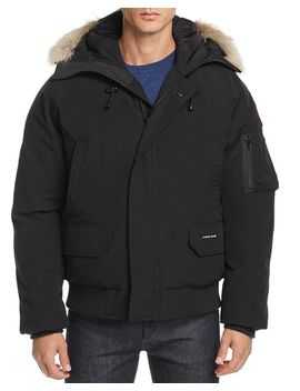 Chilliwack Fur Trimmed Down Bomber Jacket by Canada Goose