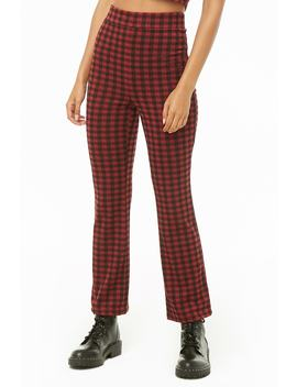 Gingham Crop Top & Trousers Set by Forever 21
