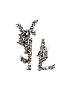 Ysl Logo Clip Earrings by Saint Laurent