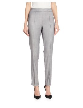 Shark Skin Skinny Ankle Pants W/ Pintucking by St. John Collection