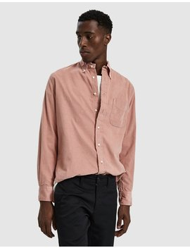 Corduroy Button Down Shirt In Pink by Gitman Brothers Vintage