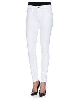 Le Color Skinny Denim Jeans, Blanc De Blancs by Frame