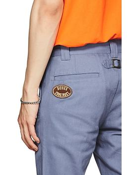 Logo Cotton Slim Trousers by Dickies Construct