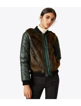 Kelsey Reversible Bomber Jacket by Tory Burch