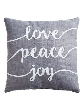 Love Peace & Joy Pillow by Pier1 Imports
