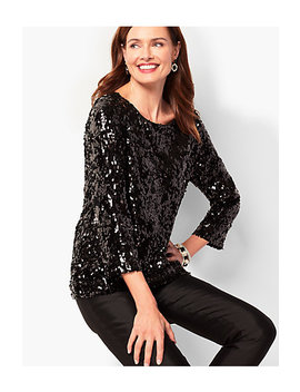 Allover Sequin Top by Talbots