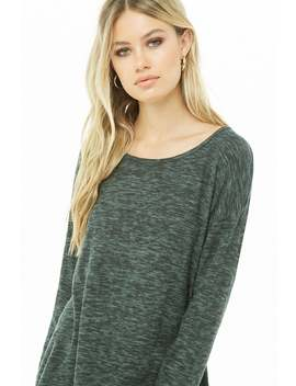 High Low Marled Knit Top by Forever 21