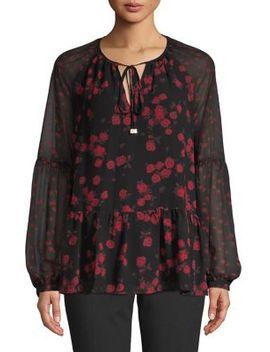Floral Tie Front Top by Michael Michael Kors