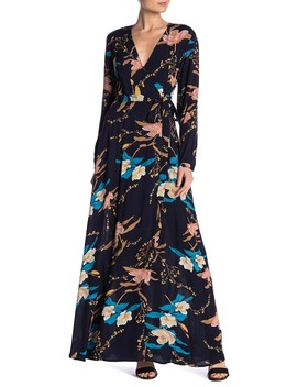 Floral Wrap Maxi Dress by Aakaa