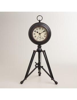 Black Alton Tripod Clock by World Market