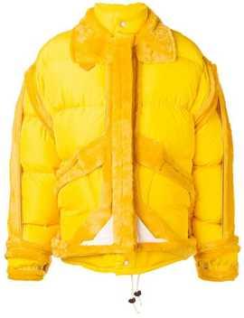 Oversized Shearling Trim Puffer Jacket by Maison Margiela