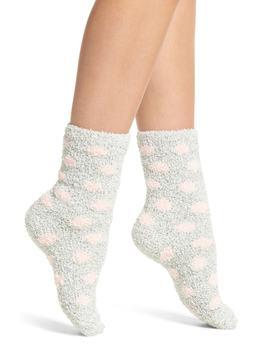 Butter Pattern Crew Socks by Nordstrom