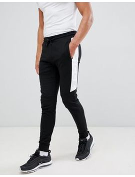 Nicce Colt Skinny Joggers With Logo Panel Detail by Nicce London