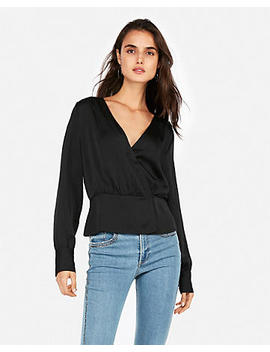 Surplice Wrap Front Top by Express