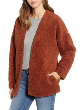 Cozy High Pile Fleece Jacket by Socialite