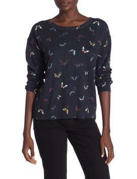Eloisa Butterfly Print Cashmere Sweater by Joie