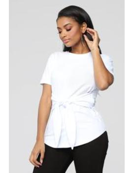 Can't Tie Me Down Tunic Top   Ivory by Fashion Nova