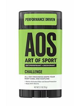 Art Of Sport Men's Antiperspirant + Deodorant Stick, Challenge Scent, Athlete Ready Formula With Matcha, 2.7 Oz (1 Pack) by Art Of Sport