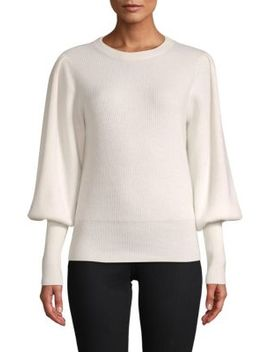 Blouson Sleeve Cashmere Sweater by Cashmere Saks Fifth Avenue