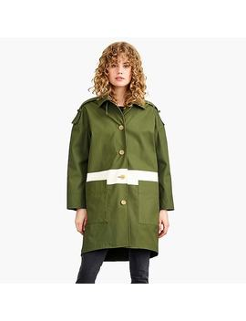 Nevereven Silk Screen Trench Coat by J.Crew