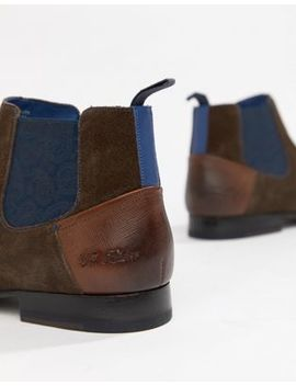 Ted Baker Lowpez Chelsea Boots In Brown Suede by Ted Baker