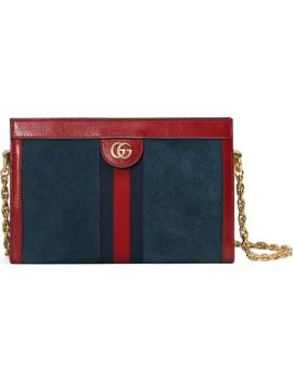 Small Ophidia Suede Shoulder Bag by Gucci