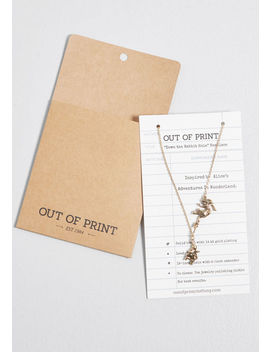 Down The Rabbit Hole Pendant Necklace by Out Of Print