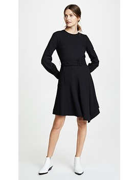 Long Sleeve Belted Dress by Derek Lam 10 Crosby