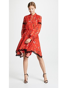 Long Sleeve Dress With Handkerchief Hem by Derek Lam 10 Crosby