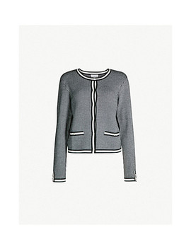 Maxypink Houndstooth Patterned Knitted Cardigan by Claudie Pierlot