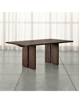 """Monarch 76"""" Natural Solid Walnut Dining Table by Crate&Barrel"""