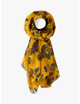 Joules Botanical Floral Wensley Scarf, Gold/Multi by Joules