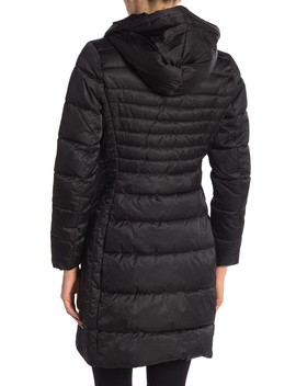 Mia Fitted Puffer Coat by Tahari